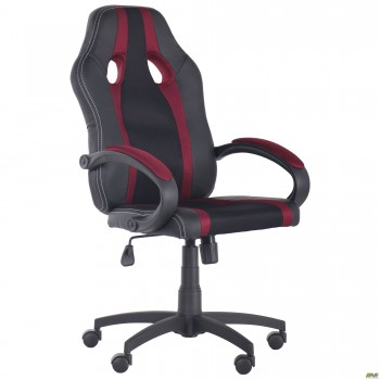 Кресло Shift Неаполь N-20/Сетка черная, вставки Сетка бордовая