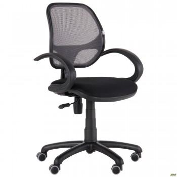 Кресло Байт/АМФ-5 сиденье Сетка черная/спинка Сетка серая