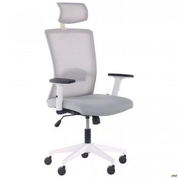 Кресло Uran White HR сиденье Нест-19 св.серая/спинка Сетка SL-01 св.серая