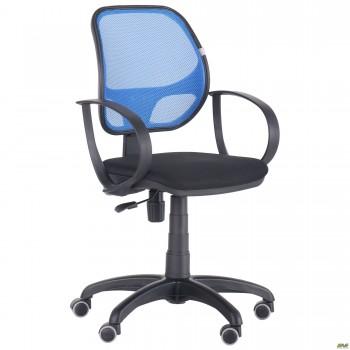 Кресло Бит/АМФ-8 сиденье Сетка черная/спинка Сетка синяя