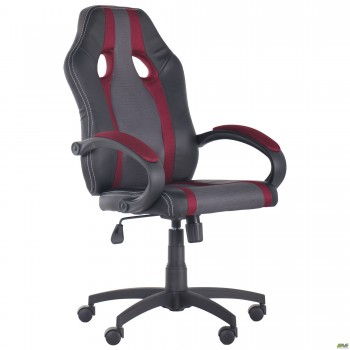 Кресло Shift Неаполь N-20/Сетка серая, вставки Сетка бордовая