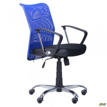 Кресло АЭРО LB сиденье Сетка черная, Неаполь N-20/спинка Сетка синяя