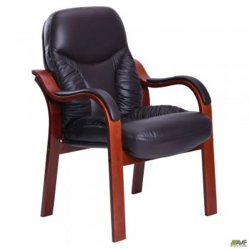 Кресло Буффало CF коньяк Кожа Люкс комбинированная Темно коричневая
