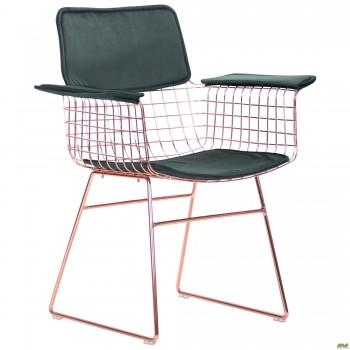 Кресло Mino, rose gold, emerald
