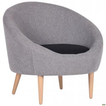 Кресло Eclipse Сидней серый 20,черный 7, подушка черный 7