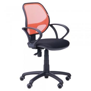 Кресло Байт/АМФ-4 сиденье Сетка черная/спинка Сетка оранжевая