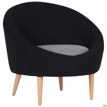 Кресло Eclipse Сидней черный 7, серый 20, подушка серый 20