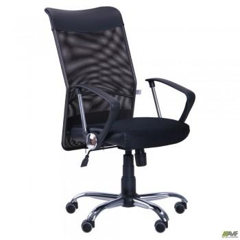 Кресло АЭРО HB Line сиденье Сетка черная, Неаполь N-20/спинка Сетка черная, вставка Неаполь N-20