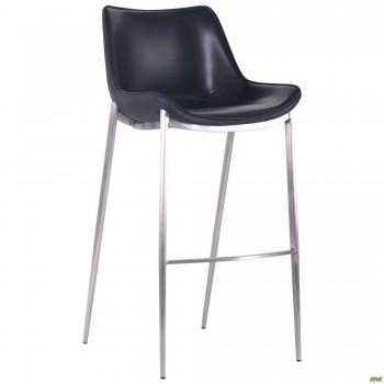 Барный стул Blanc black leather