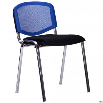 Стул Призма Веб хром сиденье Сетка черная/спинка Сетка синяя