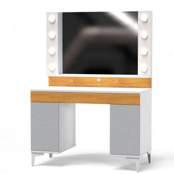 Туалетный столик с зеркалом Picassa Пепельный Софттач