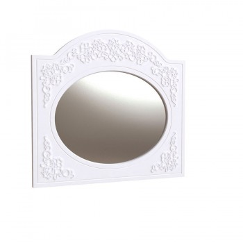 Зеркало Овальное Amelie Белый Супермат