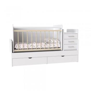 Кровать детская - Трансформер 3в1 Binky ДС039 Аляска / Аляска
