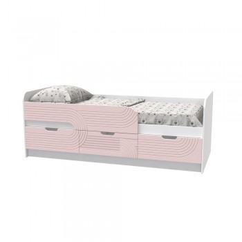 Кровать детская - Binky KEC10A Аляска / Розовый
