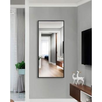 Зеркало настенное в полный рост, черное с белой кромкой 1300 х 600 мм