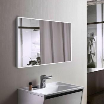 Белое настенное зеркало в раме для ванной, алюминий