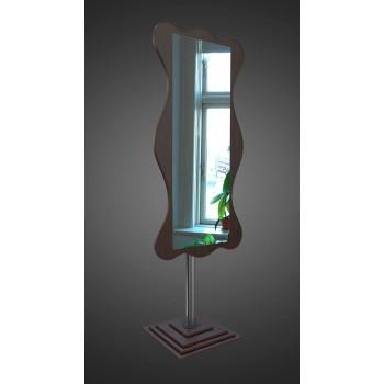 Зеркало напольное на хромированной опоре, венге