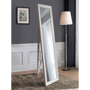 Напольное зеркало в белой раме 1650х400мм