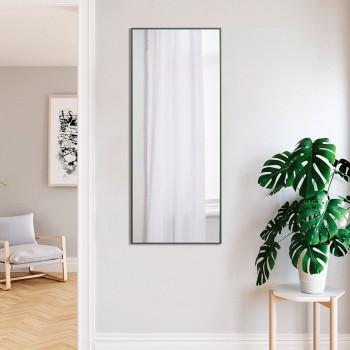 Ростовое настенное зеркало в зеленой рамке, алюминий