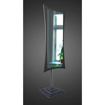 Напольное зеркало на ножке, черное