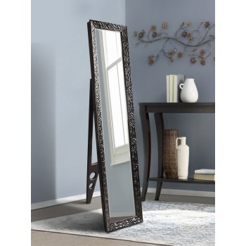 Зеркало напольное ростовое с ножкой 1650х400мм, черное