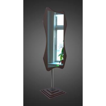 Напольное зеркало в цвете венге на ножке в полный рост