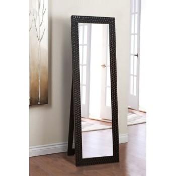 Напольное ростовое зеркало в черном цвете 1900х600 мм