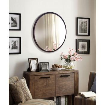 Зеркало настенное круглое 600 мм, венге