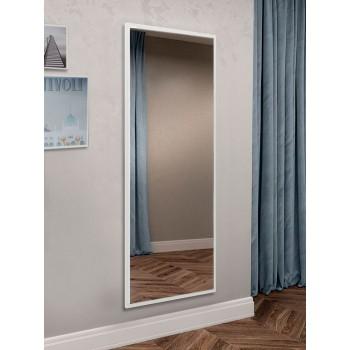 Зеркало настенное ростовое прямоугольное, белое 1300 х 600 мм