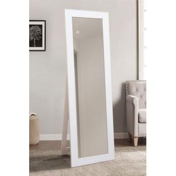 Напольное ростовое зеркало в белом цвете 1900х600 мм