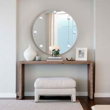 Круглое зеркало с подсветкой для визажа