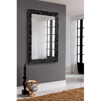Зеркало настенное в черной раме, глянец
