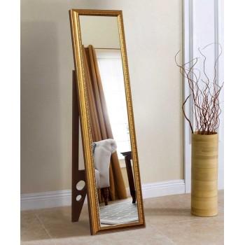Напольное ростовое зеркало в золотой раме 1650х400 мм