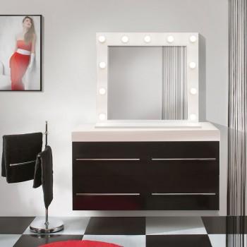 Гримерное зеркало с лампочками 800х700 мм