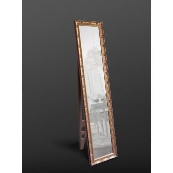 Напольное зеркало в полный рост в золотом цвете 1650х400 мм
