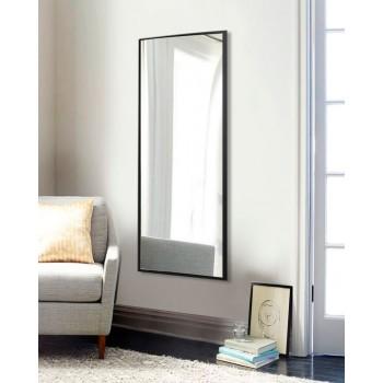 Зеркало настенное прямоугольное ростовое, черное 1300 х 600 мм