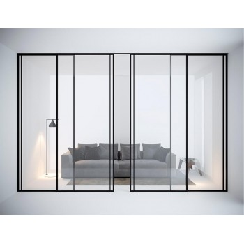 Межкомнатная раздвижная стеклянная перегородка Filetto