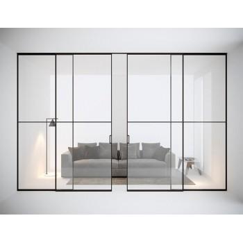 Межкомнатная раздвижная стеклянная перегородка La Linea