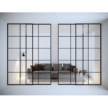 Межкомнатная раздвижная стеклянная перегородка Comodo