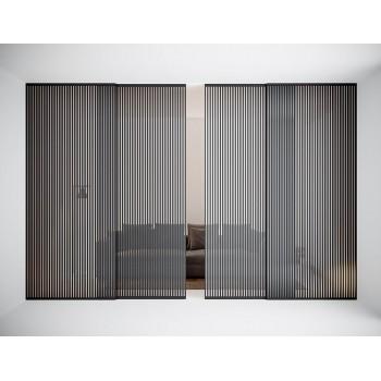 Межкомнатная раздвижная стеклянная перегородка Ragi Di luce