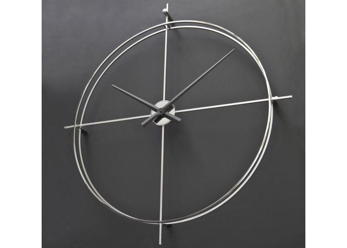 Дизайнерские часы Elegance — никель сатин  1
