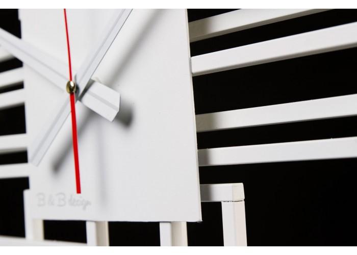 Дизайнерские часы Level — белый  3