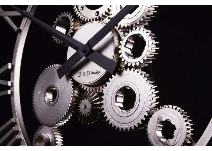 Дизайнерские часы Industrial — никель сатин  2