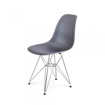 Стул Eames DSR Chair (серебро)