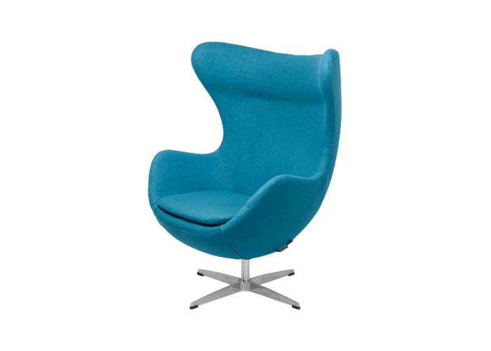Кресло Egg Chair (шерсть, голубой)  1