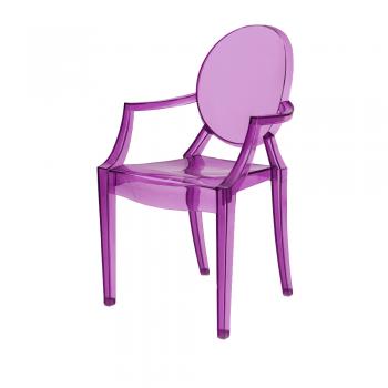 Стул Louis Ghost (фиолетовый)