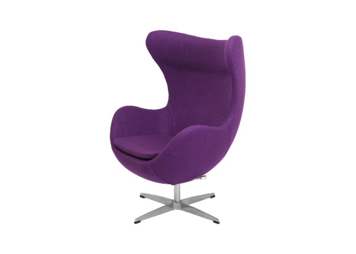 Кресло Egg Chair (шерсть, фиолетовый)  1