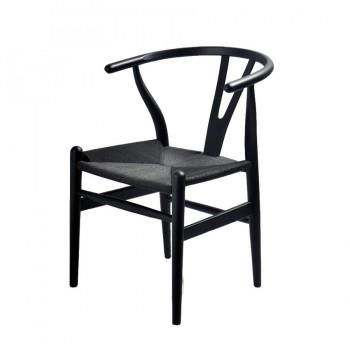 Стул Wishbone Chair (черный)