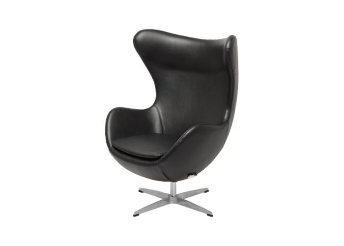 Кресло Egg Chair (экокожа черный)  1