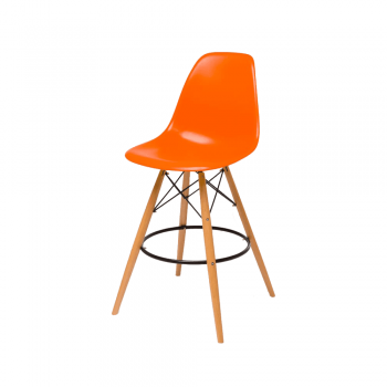 Барный стул Eames Bar Chair (оранжевый)